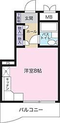 桜川アパートメント[403号室]の間取り
