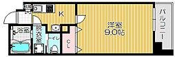 Osaka Metro谷町線 太子橋今市駅 徒歩5分の賃貸マンション 5階1Kの間取り