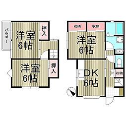 [テラスハウス] 神奈川県横浜市港南区日野南6丁目 の賃貸【/】の間取り