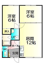 NNマンション[A3号室]の間取り