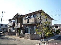 広島県福山市御幸町大字森脇の賃貸アパートの外観