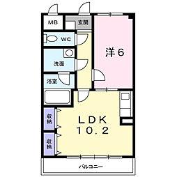 エレガントヒルズ2号館[4階]の間取り