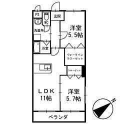 ワンズホーム北野 3階[303号室]の間取り