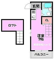 JPアパートメント生野III[4階]の間取り