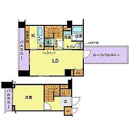 東京メトロ有楽町線 江戸川橋駅 徒歩3分の賃貸マンション 6階1LDKの間取り