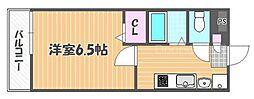 JR山陽本線 西川原駅 徒歩5分の賃貸アパート 3階1Kの間取り