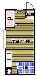 酒井ハイツ[1階]の間取り