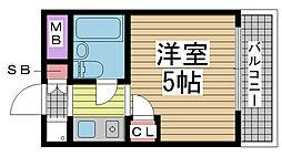 雲井マンション[202号室]の間取り