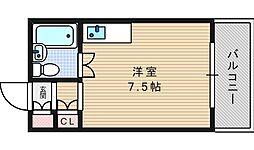 プリエール南堀江[4階]の間取り