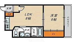 M'PLAZA城東五番館 3階1LDKの間取り