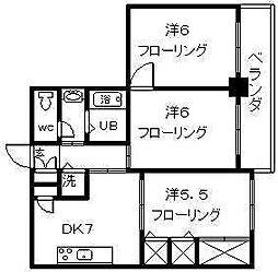 セントアミュー[4階]の間取り