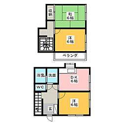 [一戸建] 静岡県静岡市清水区今泉 の賃貸【/】の間取り