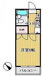 オーゼットローヤル東大宮[3階]の間取り