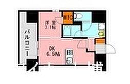 西鉄天神大牟田線 西鉄平尾駅 徒歩14分の賃貸マンション 4階1DKの間取り