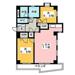 SMY88原[2階]の間取り