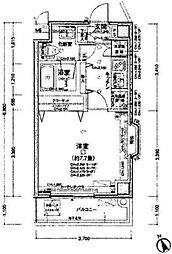 都営三田線 西巣鴨駅 徒歩3分の賃貸マンション 10階1Kの間取り
