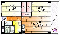 アンソレイユ[4階]の間取り