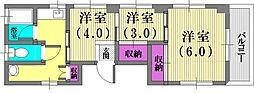 原マンション[3階号室]の間取り