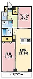 HERITAGE徳庵(ヘリテージ徳庵)[2階]の間取り