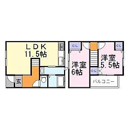 3加古川ヤングハイツ[1階]の間取り