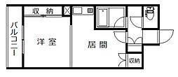 北海道旭川市永山一条19丁目の賃貸マンションの間取り