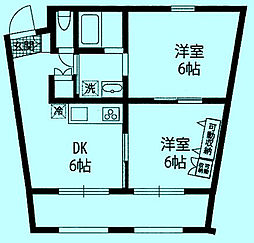 CARNATION1、2[3階]の間取り