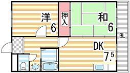 ローズマンション[3B号室]の間取り