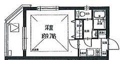 JR中央本線 吉祥寺駅 バス15分 関町北一下車 徒歩1分の賃貸マンション 3階1Kの間取り