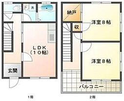 [テラスハウス] 兵庫県神戸市垂水区高丸3丁目 の賃貸【/】の間取り