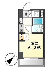 朝日プラザ名古屋ターミナルスクエア[3階]の間取り