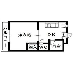 静岡県浜松市中区高丘東4丁目の賃貸マンションの間取り