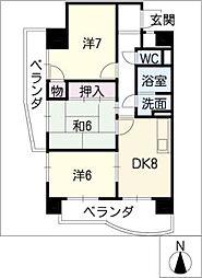 メゾン野菊[4階]の間取り