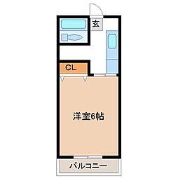 第2清水コーポ[310号室号室]の間取り