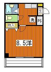 広島県広島市南区翠2丁目の賃貸マンションの間取り