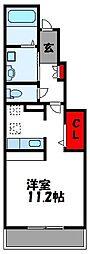 ライラックヴィラ[1階]の間取り