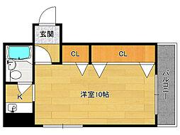 第2正美堂ビル[8階]の間取り