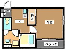 東京都世田谷区等々力2丁目の賃貸マンションの間取り