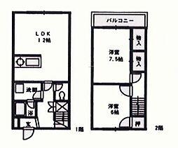 [タウンハウス] 大阪府泉南市樽井 の賃貸【/】の間取り