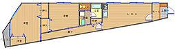 長崎県長崎市新大工町の賃貸アパートの間取り