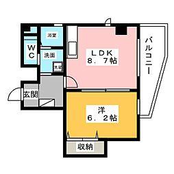第2プロスパービル[3階]の間取り