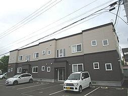 北海道札幌市北区百合が原1丁目の賃貸アパートの外観