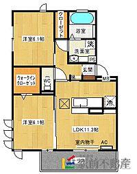 ファミールSHOW II A棟[1階]の間取り