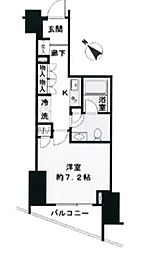 東京都渋谷区本町1丁目の賃貸マンションの間取り