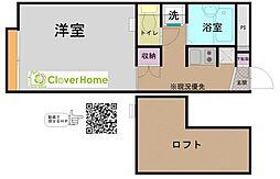 神奈川県大和市深見台3丁目の賃貸アパートの間取り
