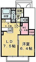 ソルジェンテI・II[1階]の間取り