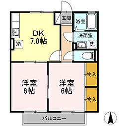 カサシオン高柳[2階]の間取り