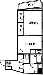 桜木ハイム[201号室]の間取り