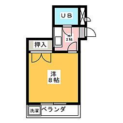 レジデンス万場山[4階]の間取り