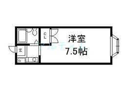 京都府京都市東山区塗師屋町の賃貸マンションの間取り