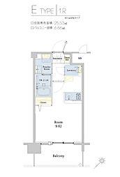 エンクレスト博多駅東II 2階1Kの間取り